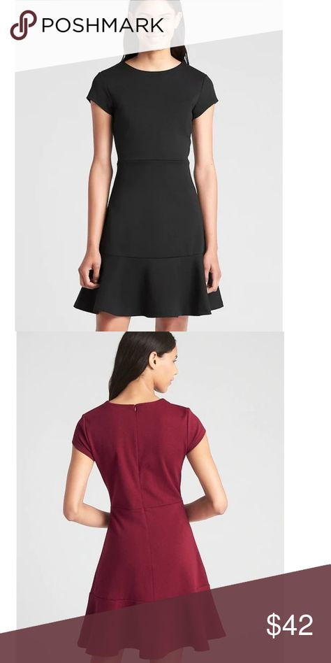 b6359e97143cb NWT Gap '18 Fit & Flare Ponte Peplum 14T Dress 257 Brand Label has been  marked through to prevent store return Style #357859 Size 14 Tall Chest 32