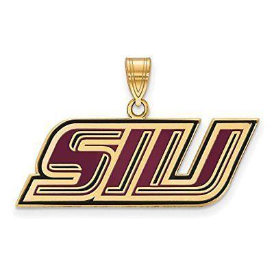 Gold-Plated 925 Silver Bowling Green State University Enamel Pendant LogoArt