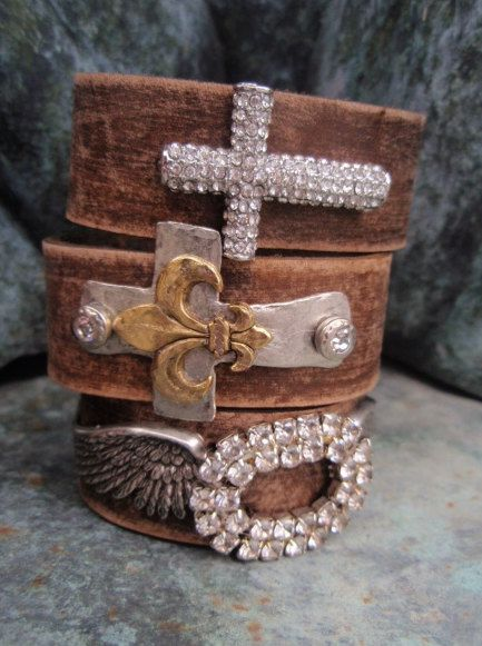 Leather cuff bracelet, I need all of these!!!!!