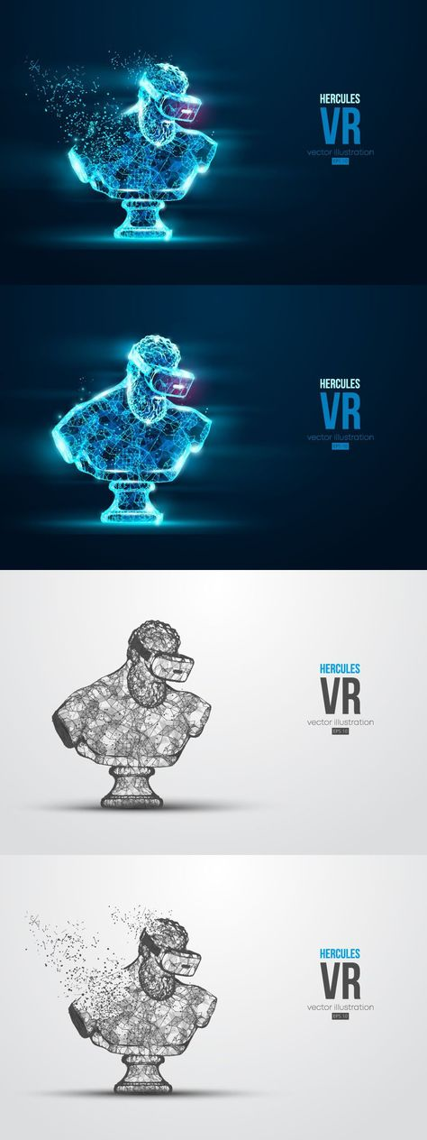 Virtual reality glasses. VR headset