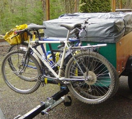 Tongue Style Bike Rack On The Front Of A Diy Home Built Explorer