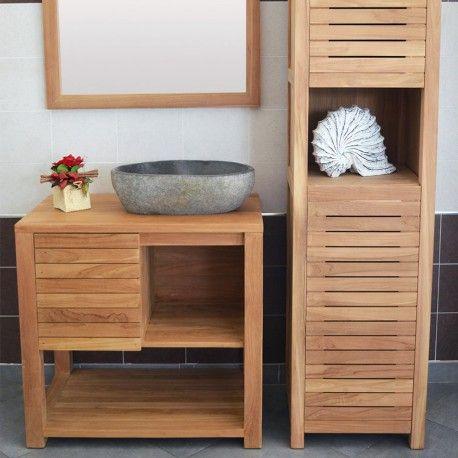 Resultat De Recherche D Images Pour Meuble Sous Vasque Bois Home Decor Single Vanity Decor