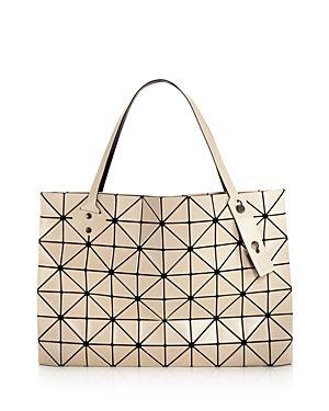 Bao Bao Issey Miyake Rock Matte Large Handbag In Beige Modesens Large Handbags Handbag Bao Bao Issey Miyake