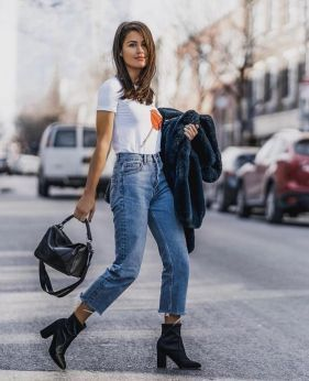 40+ White T Shirt Outfit Classy Street Style Ideas 3