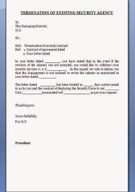 contract termination letter format word doc pdf free download - mutual agreement contract