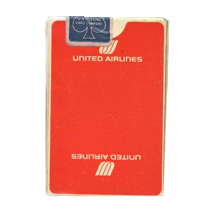 Red United Airlines Playing Cards