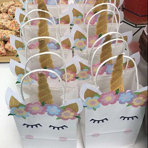 Bags Unicorn Party Candy Gift Favor Birthday Loot Favors Pack Treat