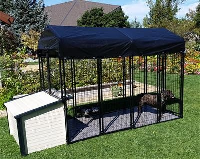 Cove Products K9 Condo 4 X 8 Dog Run With K9 Cabin Dog House