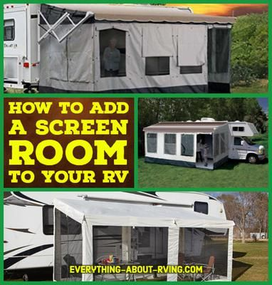 How Do I Add A Screen Room To My Rv S Awning Rv Screen Rooms Porch For Camper Screened In Patio