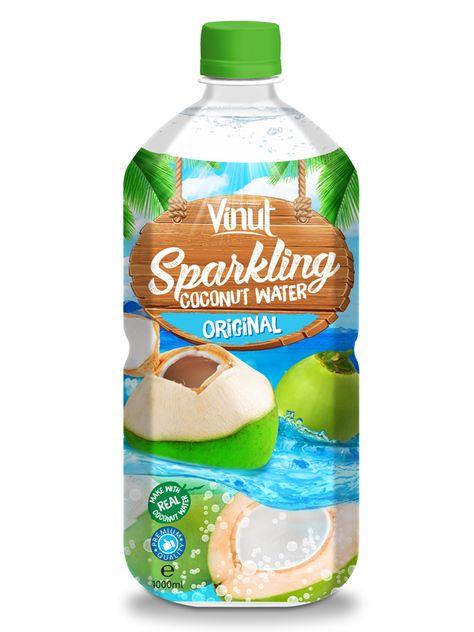 OEM Sparkling water 1L PET bottle Original Sparkling Coconut
