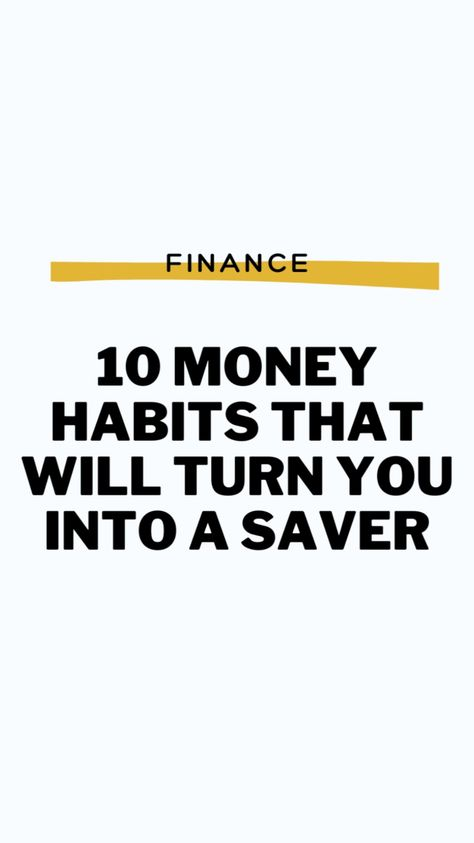 10 Habits To Save More Money