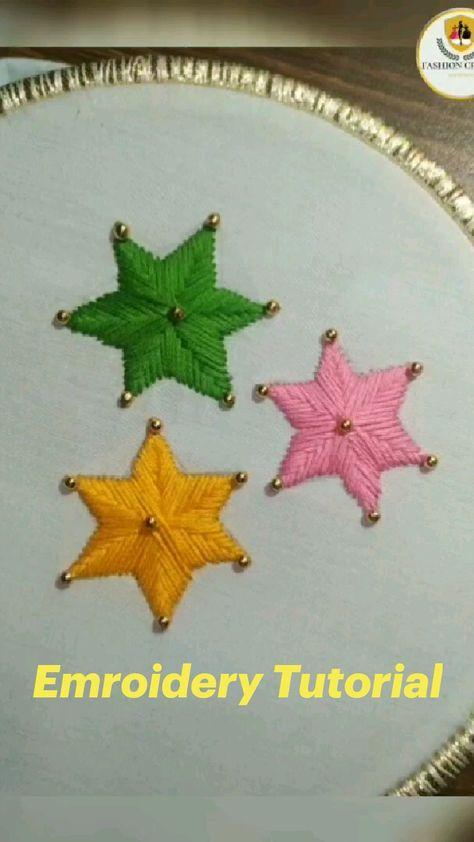 Star Flower Emroidery Tutorial