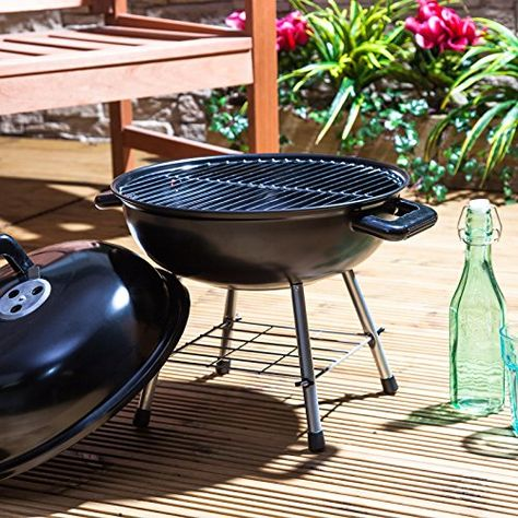 Blue Table Grill Kettle Barbecue Camping BBQ Garden Patio Ø 36