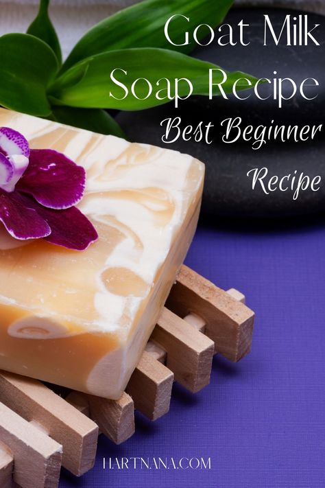 This goat millk soap recipe is the one I've made for years. It's just a few simple ingredients that are easy to get even if you don't have goats. It is a cold process soap so there is lye involved, however, following this step by step soap recipe will get you great results with minimal effort. This is the recipe for people who aren't great with EXACT measurments.