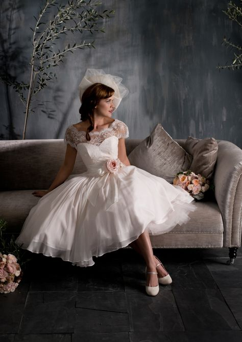 Naomi Neoh Love Letters Collection 50s style lace wedding dress