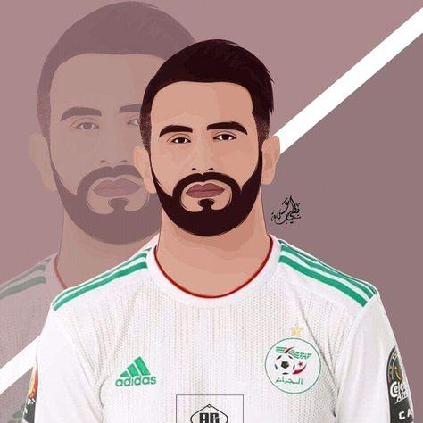 Riyad Mahrez Vector Art, Adda Bettayeb