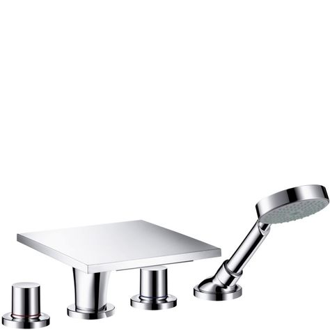 Hansgrohe 04171000 Solaris E 4-Hole Roman Tub Set Trim Chrome