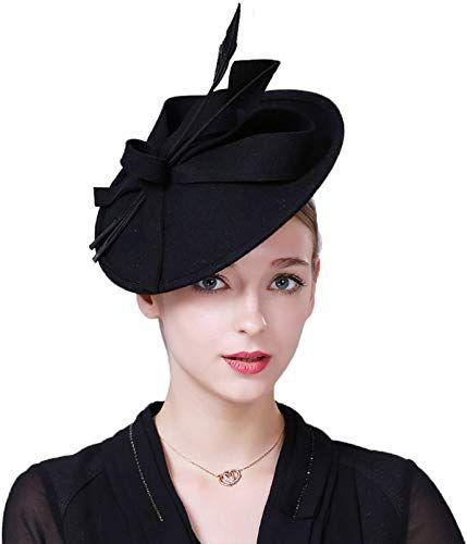 Vic Gray Women Fascinators Ladies Elegant Wool Felt Pillbox Hat Female Formal Church Wedding Dress Fedoras