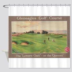 Lyingcat Mug Curtains Shower Curtain Golf Theme
