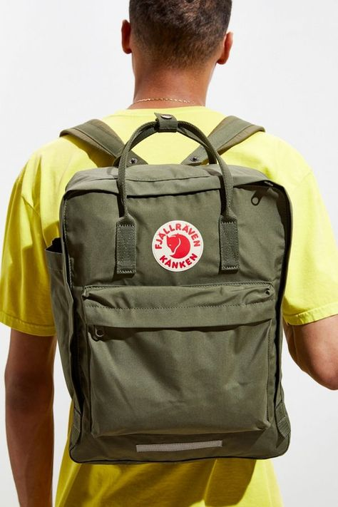 Brand new Fjallraven kanken backpack in an exclusive design only sold at urban Outfitters, comes in beautiful olive green!