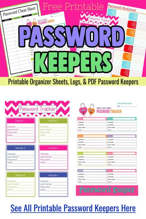 Website Password Logs Free Printable Pdf Password Keepers For