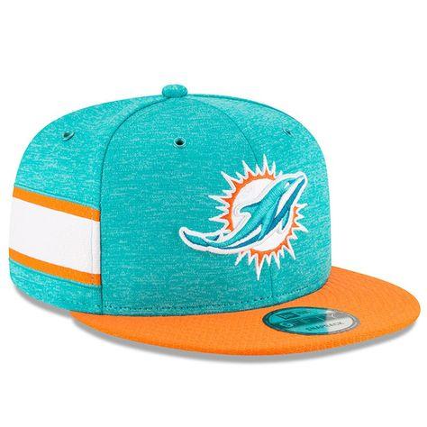 Miami Dolphins New Era 2018 NFL Sideline Home Official 9FIFTY Snapback  Adjustable Hat – Aqua Orange 154490281a85