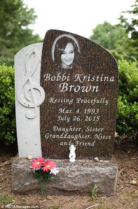 A treble clef is carved into her tombstone. Coins, a small angel figurine and a small posy of fake flowers were all left at its foot.