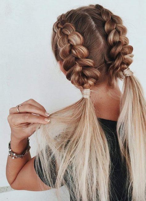 Fishtail Braid Hairstyles, Box Braids Hairstyles, Hairstyles For School, Cute Hairstyles, Hairstyles Videos, Braided Ponytail, Everyday Hairstyles, Summer Hairstyles, Braid Hairstyles For Long Hair