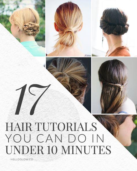 17 Cute + Easy Hair Tutorials | HelloGlow.co