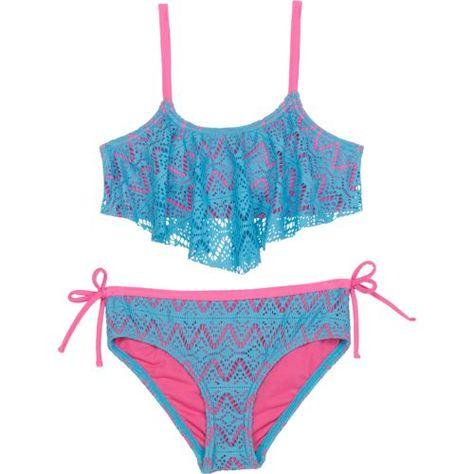 In Mocean Aqua Push Up Halter Bikini Top Swimwear Juniors Medium,Large