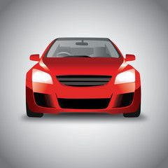 Vector Sports Red Car Front View