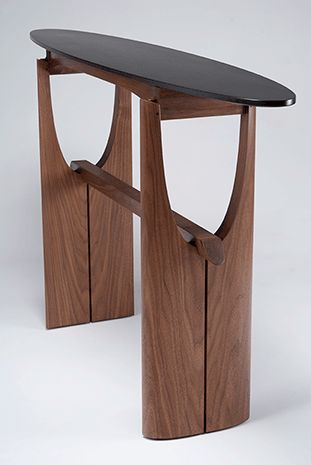 Cormorant Hall/entry Table   Black Walnut, Ebonized Tiger Maple, Blackwood    Eben Blaney Furniture | CONSOLE | Pinterest | Entry Tables, Tigers And  Hall