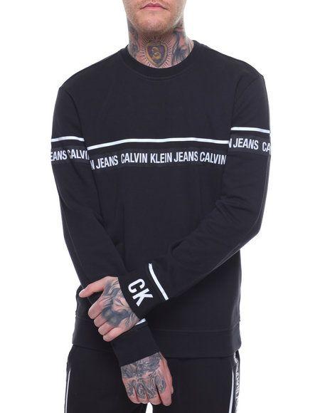 Find Logo Tape Sweatshirt Men S Sweatshirts Sweaters From Calvin Klein More At Drjays Mens Sweatshirts Sweatshirts Long Sleeve Tshirt Men