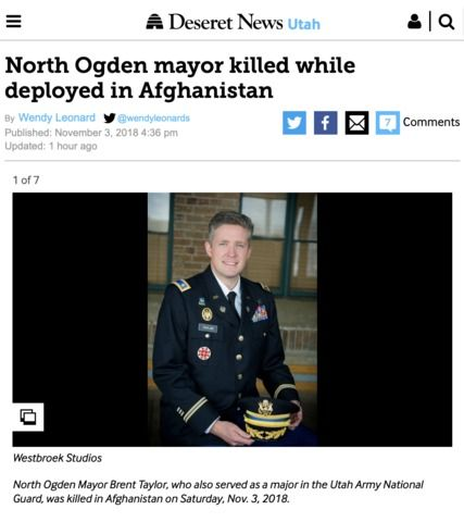 Latter Day Saint Father And Army Major Killed In Afghanistan With