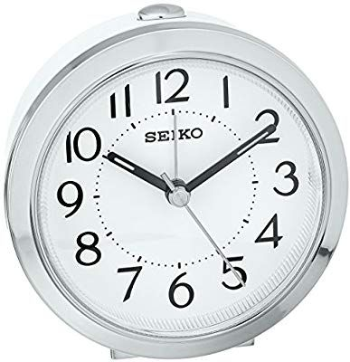 Amazon Com Seiko Plastic Alarm Clock Model Qhe146slh Watches Clock Alarm Clock Wall Clock