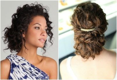 Getting Some Fancy Curly Hair Updos Curly Hair Styles Hair Styles Diy Hairstyles