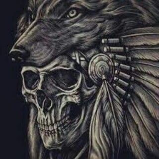 Pin By Misty Wells On Conceited Indian Skull Tattoos Headdress Tattoo Native Tattoos