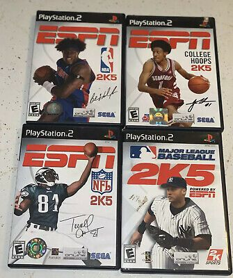 Sony PlayStation 2 ESPN 2K Sports Lot College Hoops 2K5 NBA 2K5 NFL 2K5 MLB 2K5    eBay