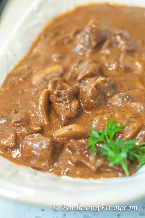 Beef and Mushroom Stew // Panlasang Pinoy