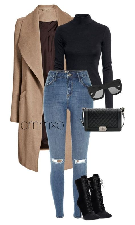 A fashion look from February 2017 featuring long sleeve tops, camel coat and blue jeans. Browse and shop related looks. Cute Casual Outfits, Chic Outfits, Fashion Outfits, Womens Fashion, Fashion Tips, Winter Outfits Women, Fall Outfits, Hippie Stil, River Island