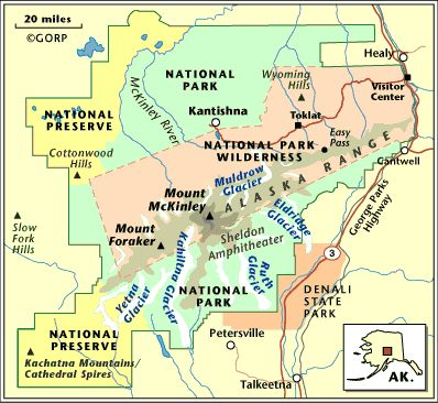 Denali National Park Map Yahoo Search Results TRAVEL - Mount mckinley on us map