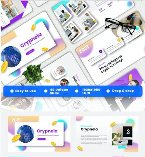 Crypnela - Cryptocurrency Powerpoint Templates