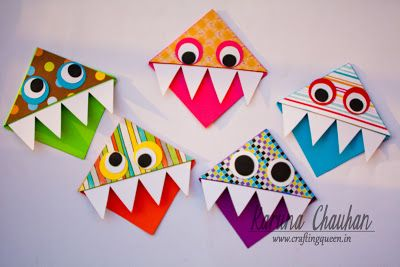 Crafting Queen: Monster Bookmarks!