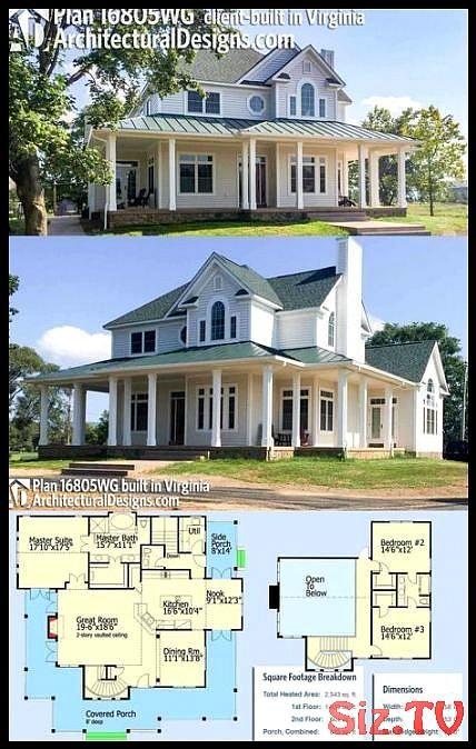 19 Ideas Farmhouse Home Plans Southern Living Wrap Around Porches For 2019 19 Ideas Farmhouse Home Country House Plans Porch House Plans House Plans Farmhouse