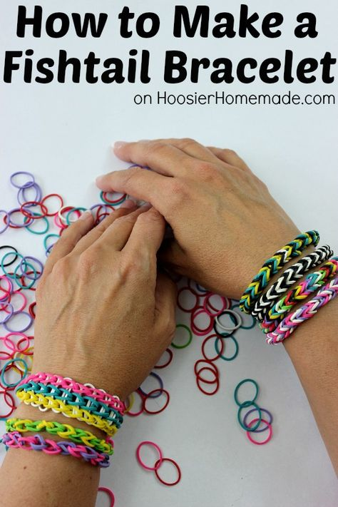 How to Make a Fishtail Rubber Band Bracelet