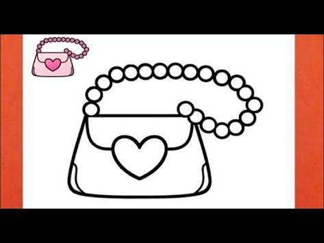 كيفية رسم حقيبة يد سهلة رسم حقيبة كيوت رسم سهل تعلم الرسم تعليم الرسم رسومات بالرصاص Youtube