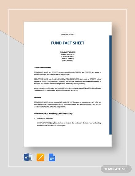 Fund Fact Sheet Template Free Google Docs Word Apple Pages Template Net Fact Sheet How To Make Brochure Microsoft Word Resume Template
