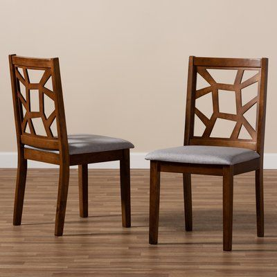 Ebern Designs Eastwood Solid Wood Dining Chair Dining Room Chairs Upholstered Solid Wood Dining Chairs Dining Chairs Solid wood dining room chairs