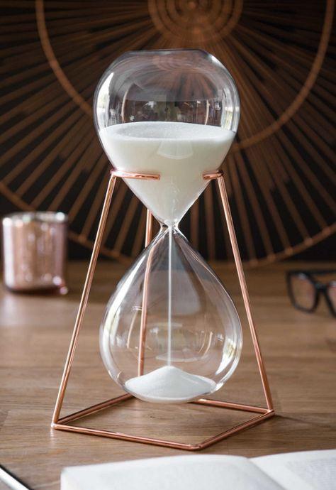 Sanduhr Deko.Sanduhr Mit Kupfer Copper Hourglass Architektur In 2019