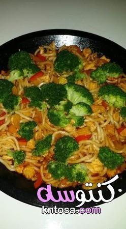طريقة عمل النودلز الصيني انواع النودلز الصيني طريقة عمل النودلز الصيني باللحم مكونات النودلز الصينى Food Chicken Meat